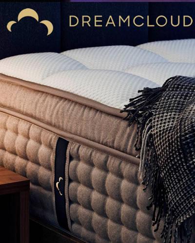 DreamCloud Luxury Hybrid Mattress with Parachute Home Bedding