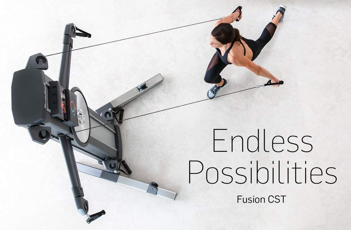 WITHOUT SIDE BARS OR A PLATFORM THE   FUSION CST     OFFERS AN AMAZING NUMBER OF MOVES FOR WORKOUTS THAT DELIVER RESULTS AND DOES NOT GET OLD