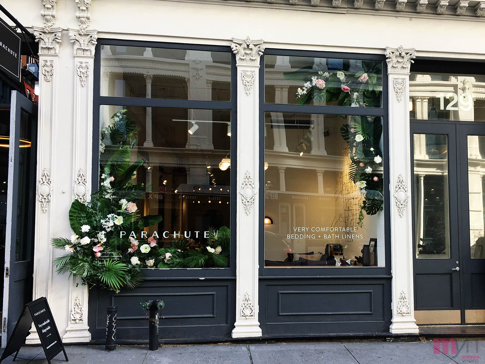 Parachute bedding NYC store is open in Soho.  Located on the corner of Grand and Crosby Street