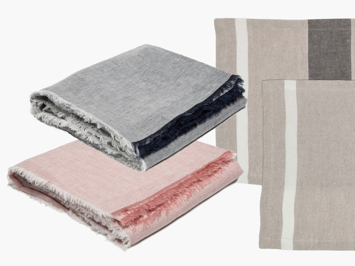 PARACHUTE DINING COLLECTION  - LINEN PLACEMATS & CHAMBRAY TABLECLOTHS