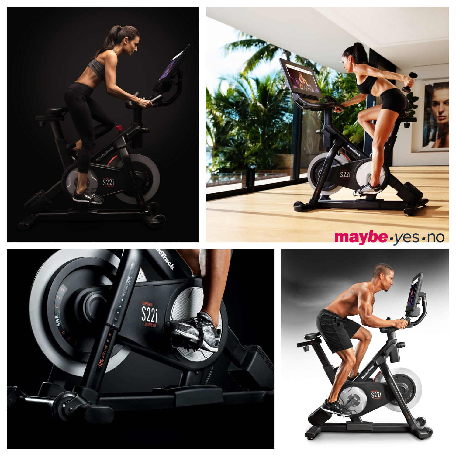 """hi-tech  Nordictrack S22 i , or  S15i  with high-energy Studio class workouts, stream to the bike's wide 22"""" HD touchscreen console, so you can enjoy a studio bike class at home as if you were actually there"""