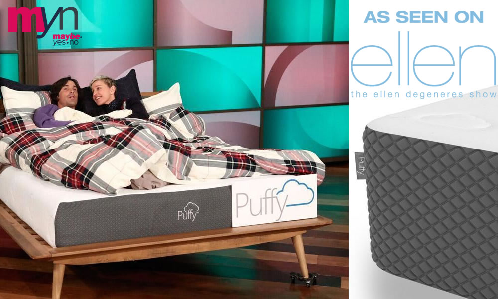 The top-rated Puffy Mattress, featured on the Ellen, comes with a lifetime warranty & free shipping
