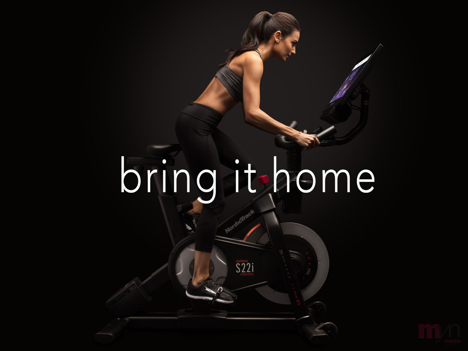 The S22i Studio Bike  streams classes to a 22 inch HD Touchscreen with its 360°  swivel & tilt ability