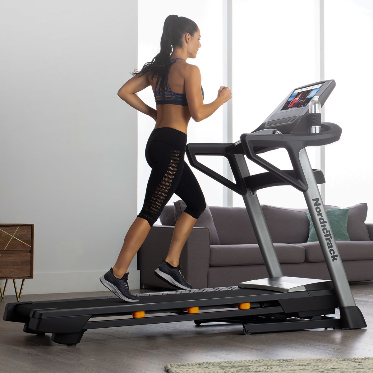 Lets do it with a  Nordictrack T 9.5 S Treadmill  powered by iFit to kick-off your fitness goals. Same as  the T 8.5 S  but features a 14 inch screen vs. 10 inches