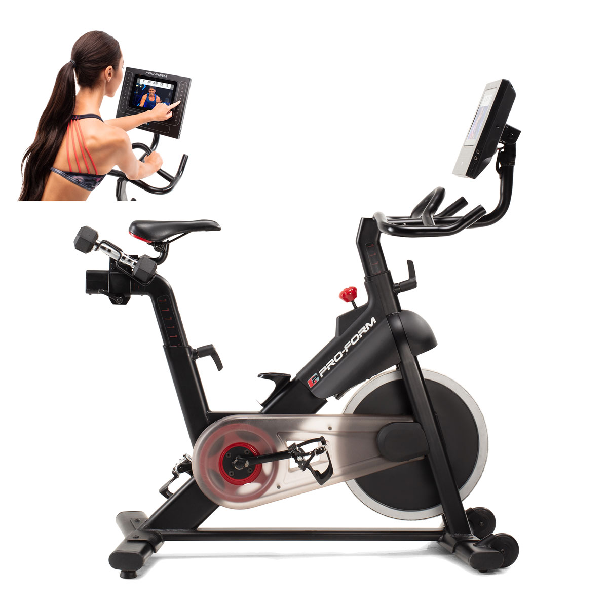 Studio Bike Pro  is a durable solid frame bike that holds up to multiple users, daily rides with thoughtful design features powered by iFit studio classes streamed to its HD touchscreen