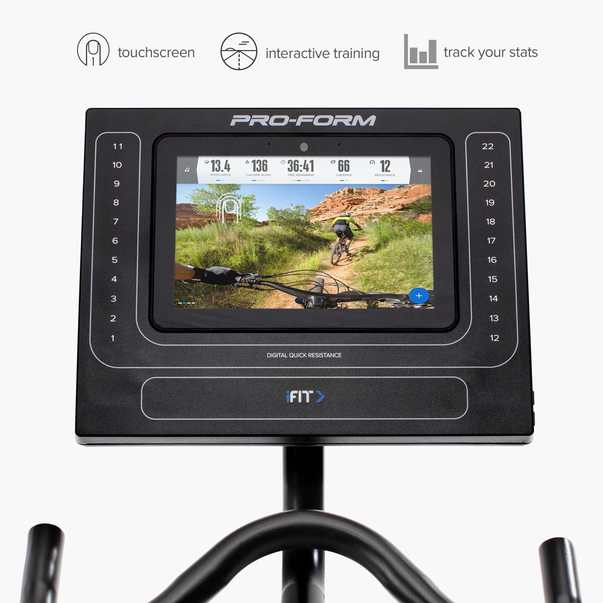 TOUCHSCREEN - WITH 360° SWIVEL