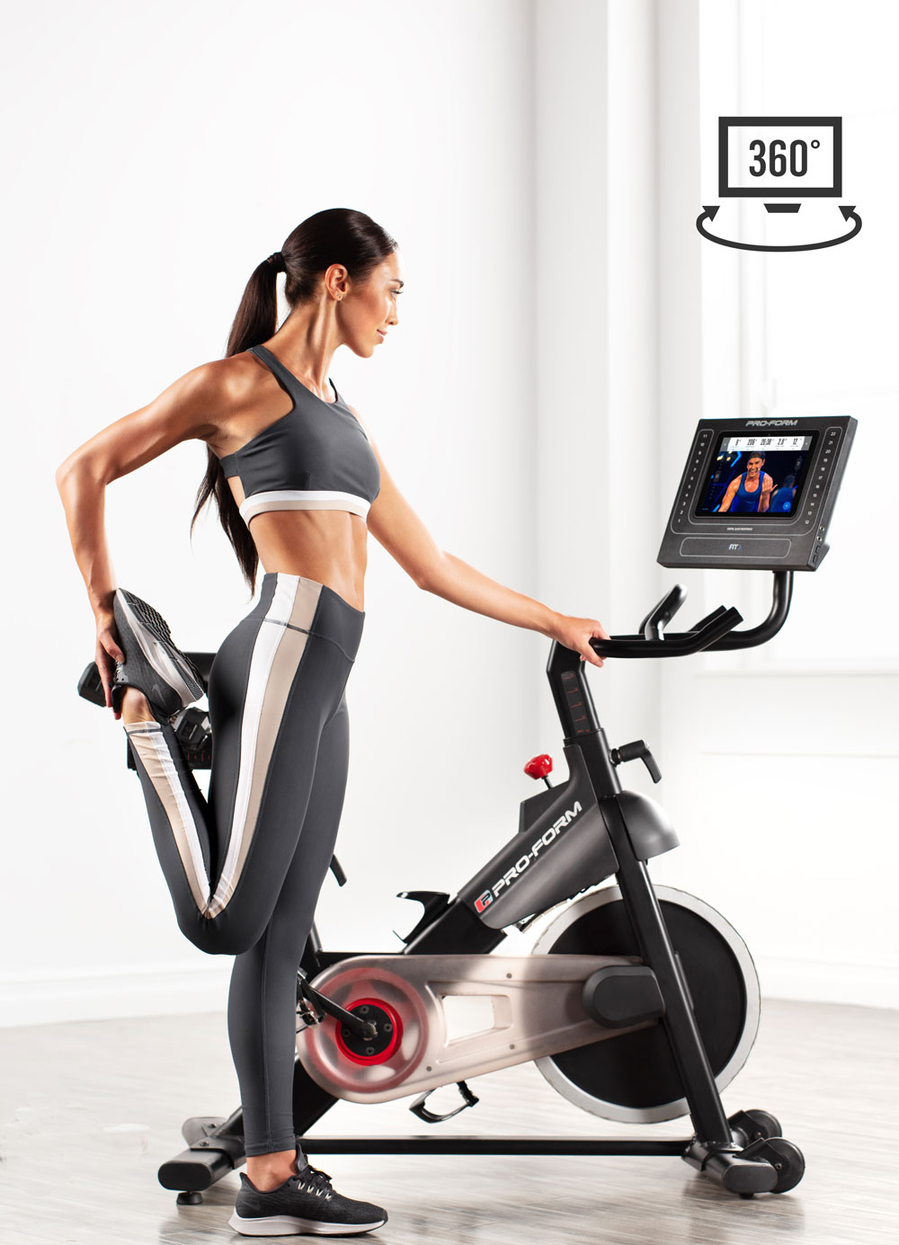 Better Off the bike Training  is incorporated into iFit Studio Classes and supported by the bike's touchscreen's ability to swivel and/or tilt for better viewing