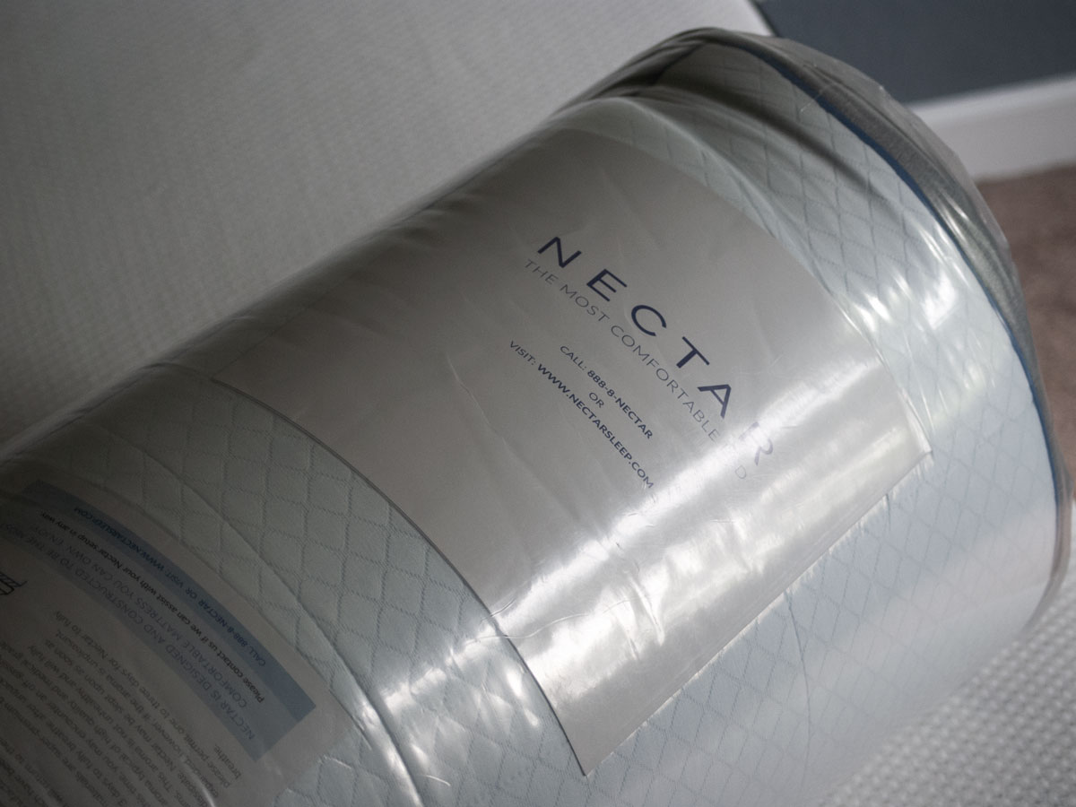 Your Nectar mattress will arrive vacuum sealed and rolled up. Simply open in the room of your choice