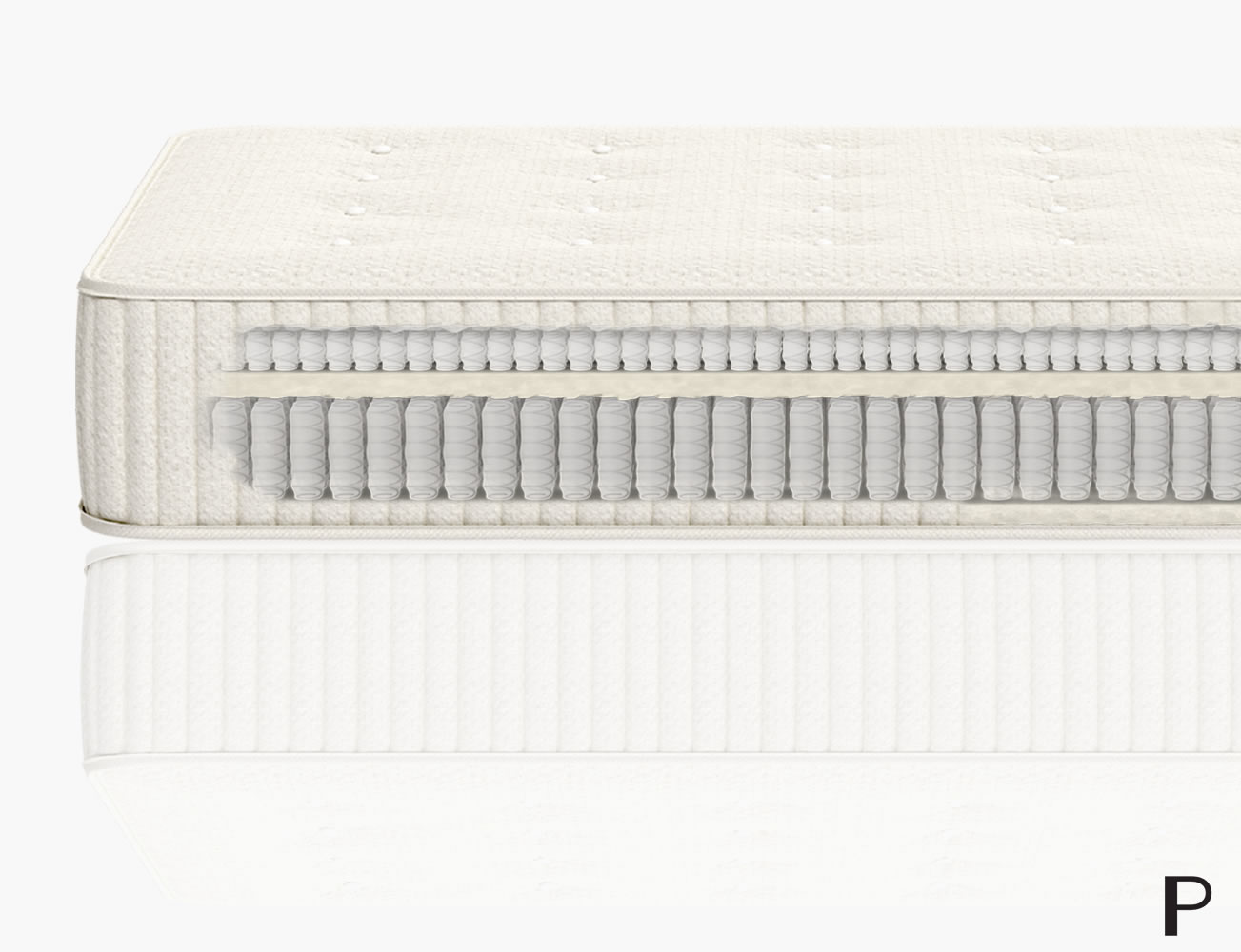 Parachute Mattress  is designed as a luxury eco-friendly mattress combining micro coils and pocketed coil springs with a combination of wool and cotton layers. The benefits of this combination is a firmer mattress for spinal alignment and overall better support.