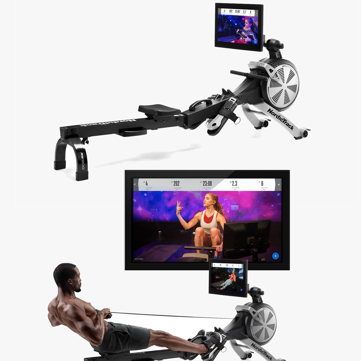Nordictrack RW900 Rowing machine  Featuring streamed iFit Classes led by Alex Silver-Fagan