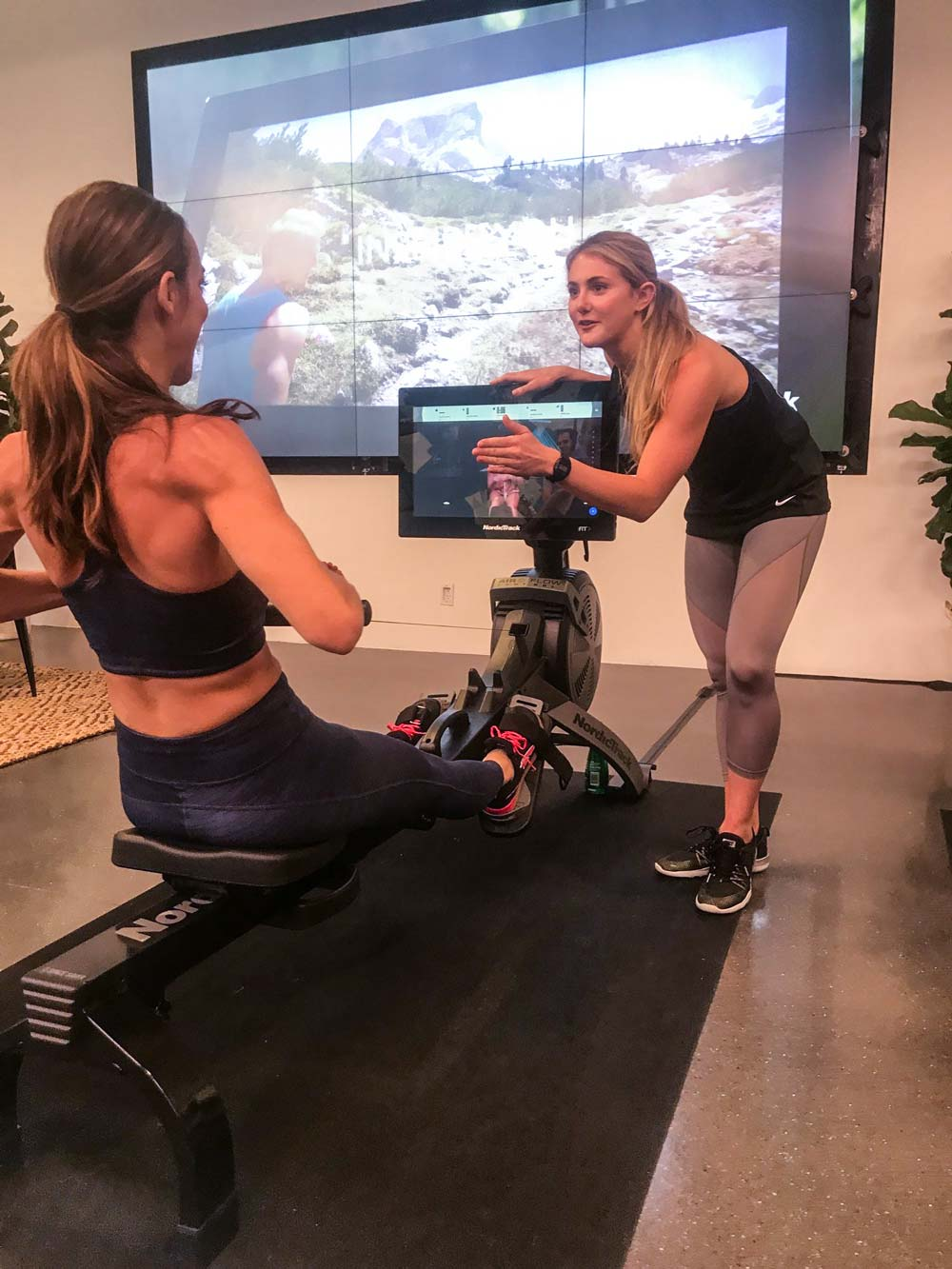 Alex discusses iFit rowing with Aly Teich, of The Sweat Life, at a Nordictrack sponsored event in NYC  PC:  Courtesy of  The Sweat Life