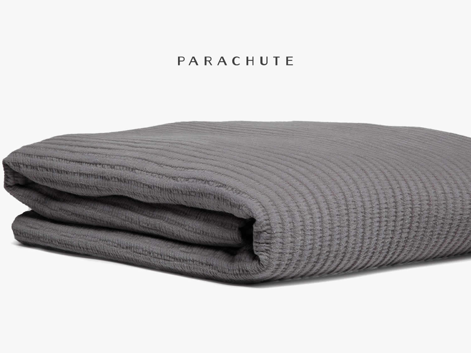 Pebble Gray Coverlet  available in two sizes