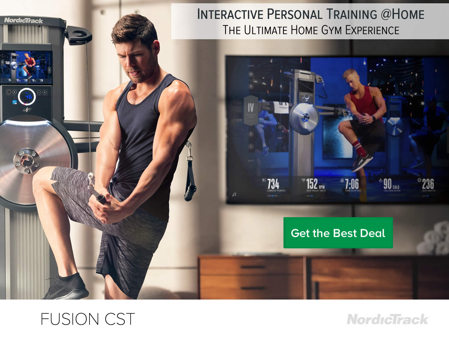 Nordictrack Fusion CST interactive strength Training at Home