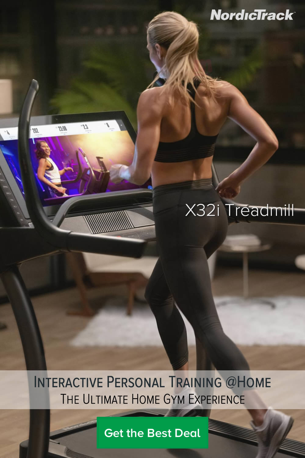 Nordictrack X32i Incline Treadmill with Interactive  training at Home