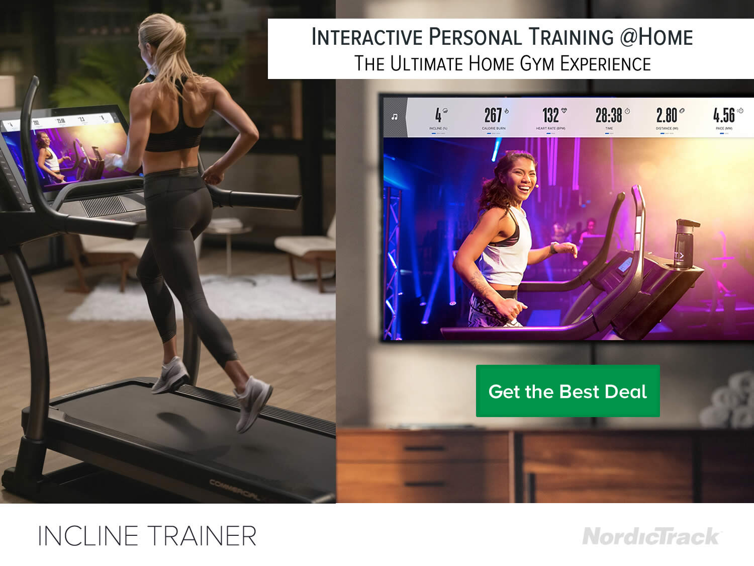 Nordictrack X32i Treadmill with Interactive running, walks and hikes Training at Home