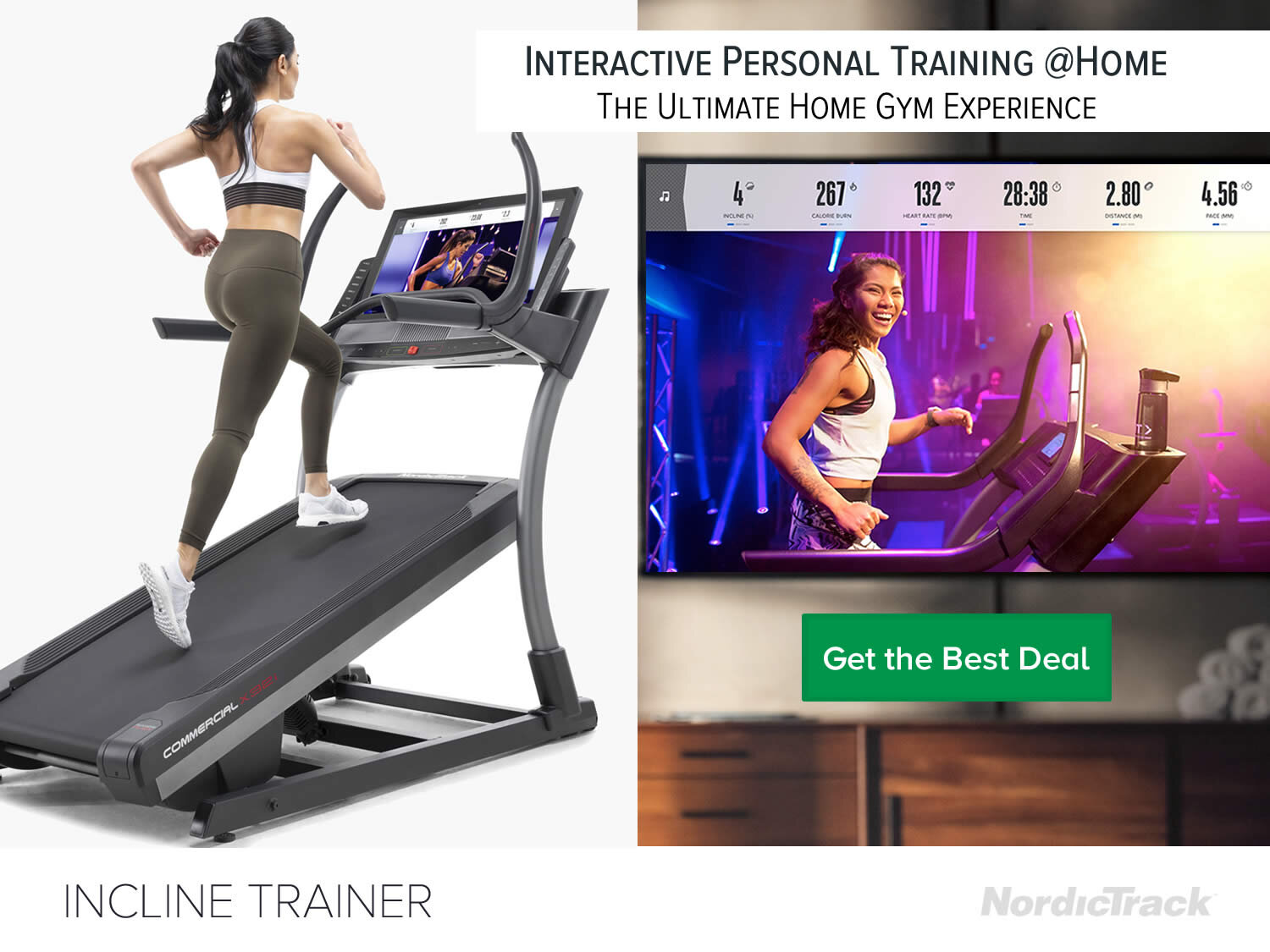 Nordictrack X32i Incline Treadmill with Interactive Studio Workouts at Home
