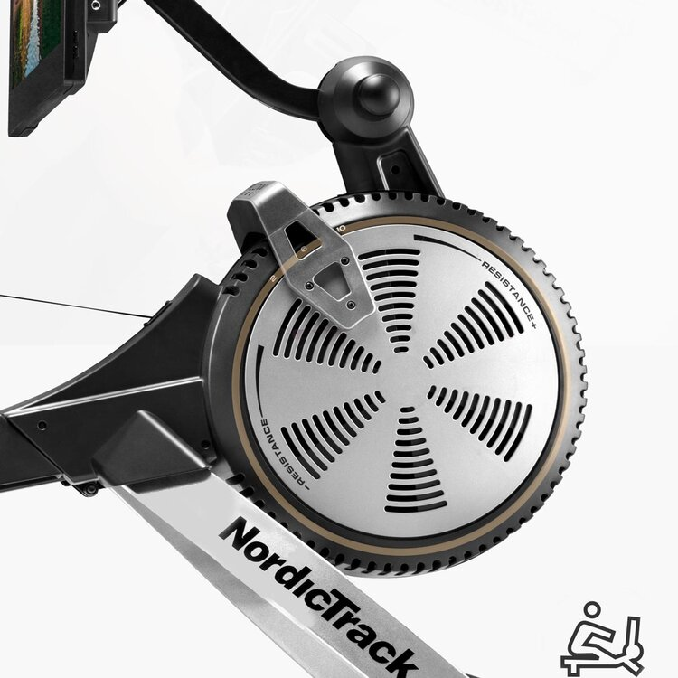 The Nordictrack RW900  uses Silent Magnetic Resistance (SMR) for a smoother rowing motion, plus you can add 10 air resistance options to further challenge yourself