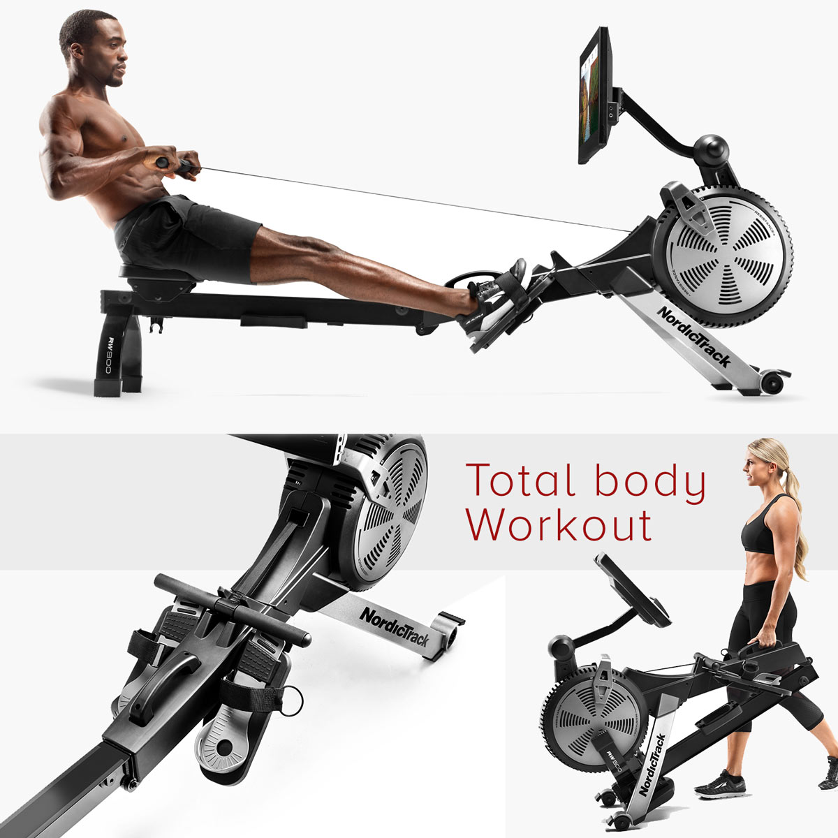 Indoor Rowing on the  RW900 or RW500  offers great variety during the off season. Rowing is a great workout because it is a full-body exercise that can help build and tone muscles, improve cardiovascular function and increased stamina. Rowing is also low-impact and easy on joints.