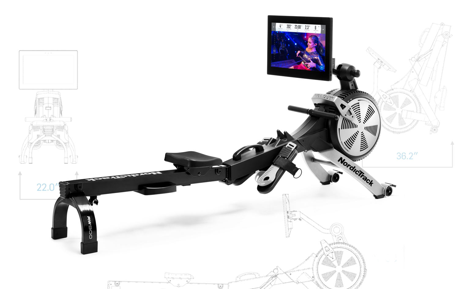 Eliminate treks to the gym or dealing with the usual gym hassles. The   Nordictrack RW900  Rowing Machine  is designed to provide an quiet smooth rowing motion and an immersive workout experience from home