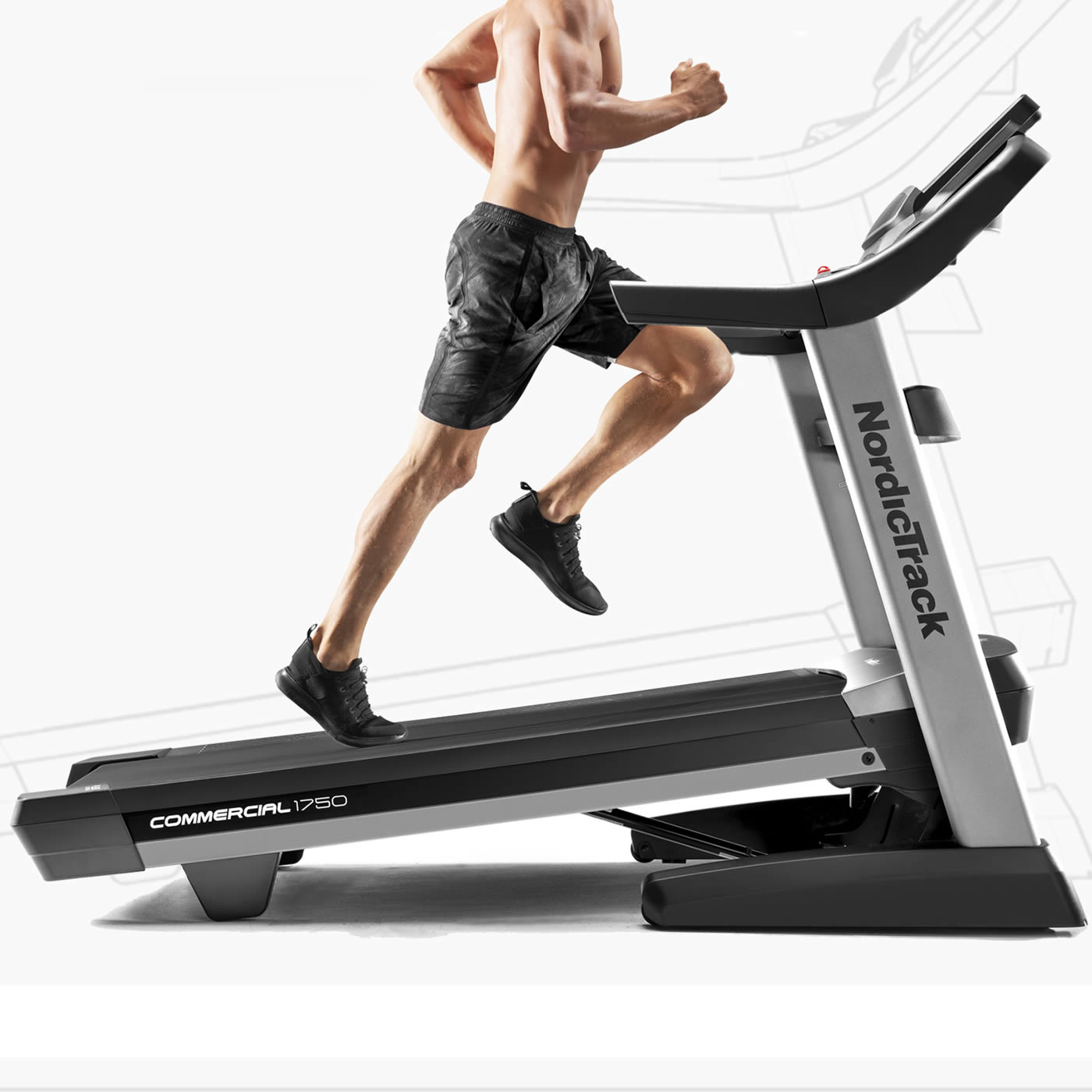 Nordictrack Commercial 1750  Treadmill Reviewed. Running or just walking at an incline will burn a lot more calories quicker with this durable tread
