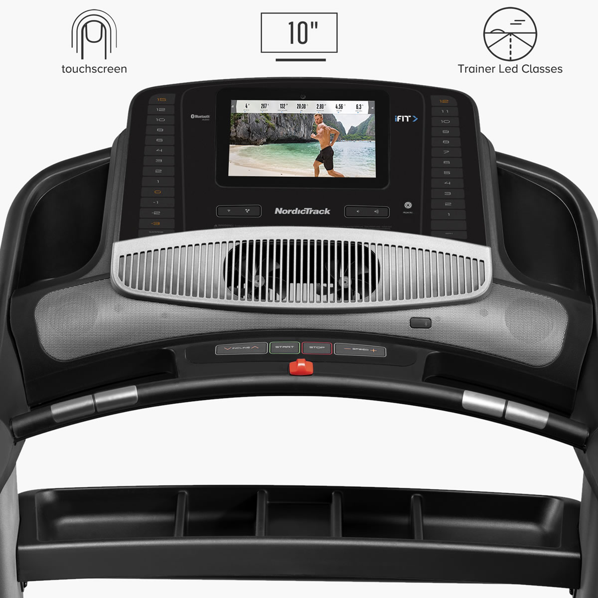 """With its 10"""" screen Powered by iFit interactive training you will experience a more immersive training. Workout from home on your schedule, yet still get personal, motivational instruction"""