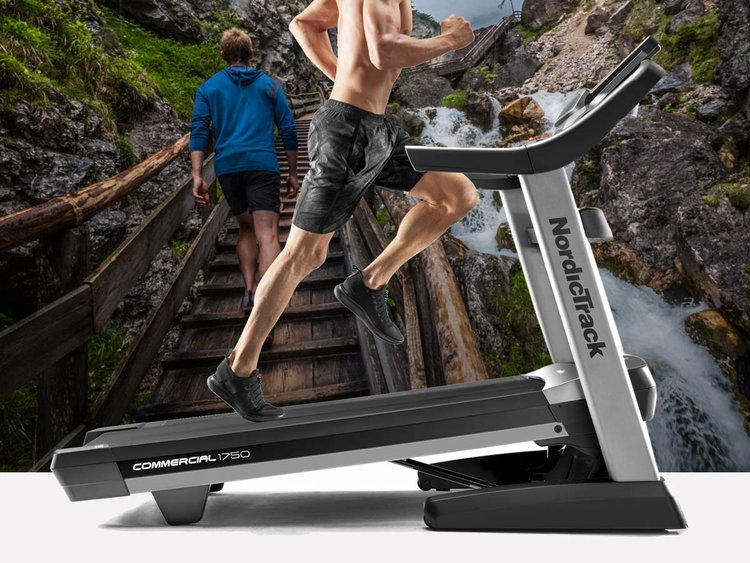 Whether waking, running or taking a hike the  iFit enabled  1750 treadmill can  automatically synchronize and adjust incline, decline and speed  with on-demand workouts streamed its touchscreen display
