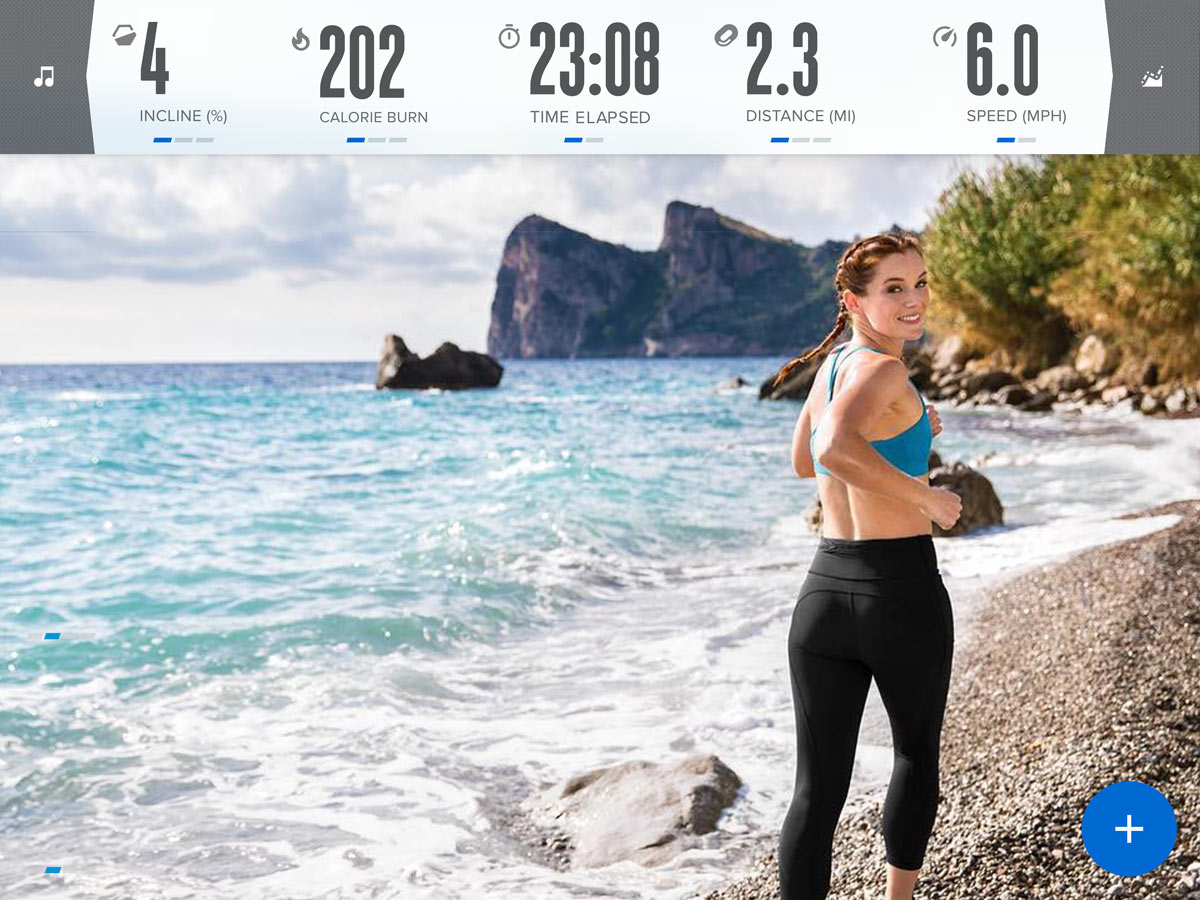 Powered by iFit, follow your trainer along the Amalfi Coast in the Italy series on the  C1750 treadmill