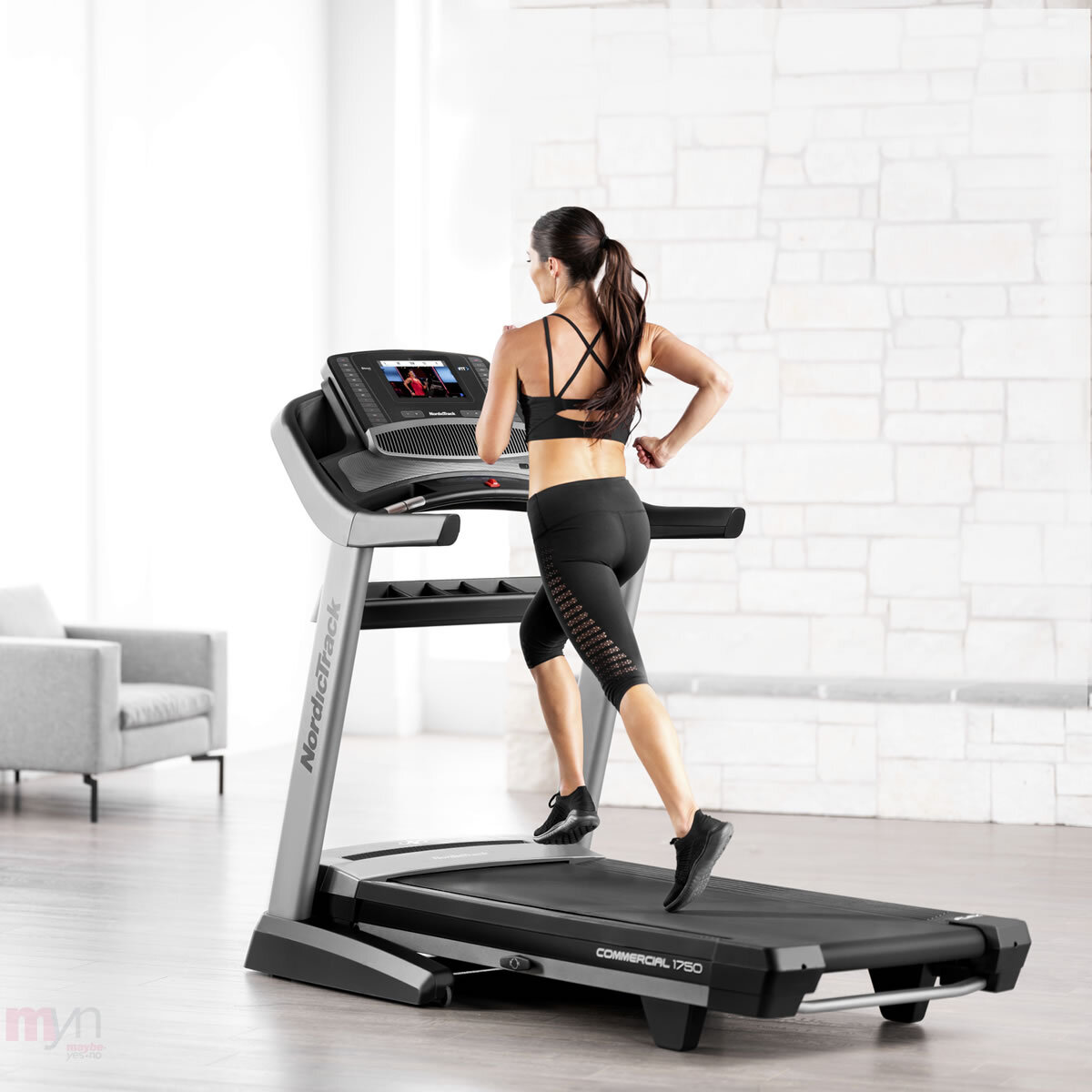 The C1750 has a Spacious running deck  and is a durable treadmill that will support multiple users is powered by iFit interactive personal training for your home gym