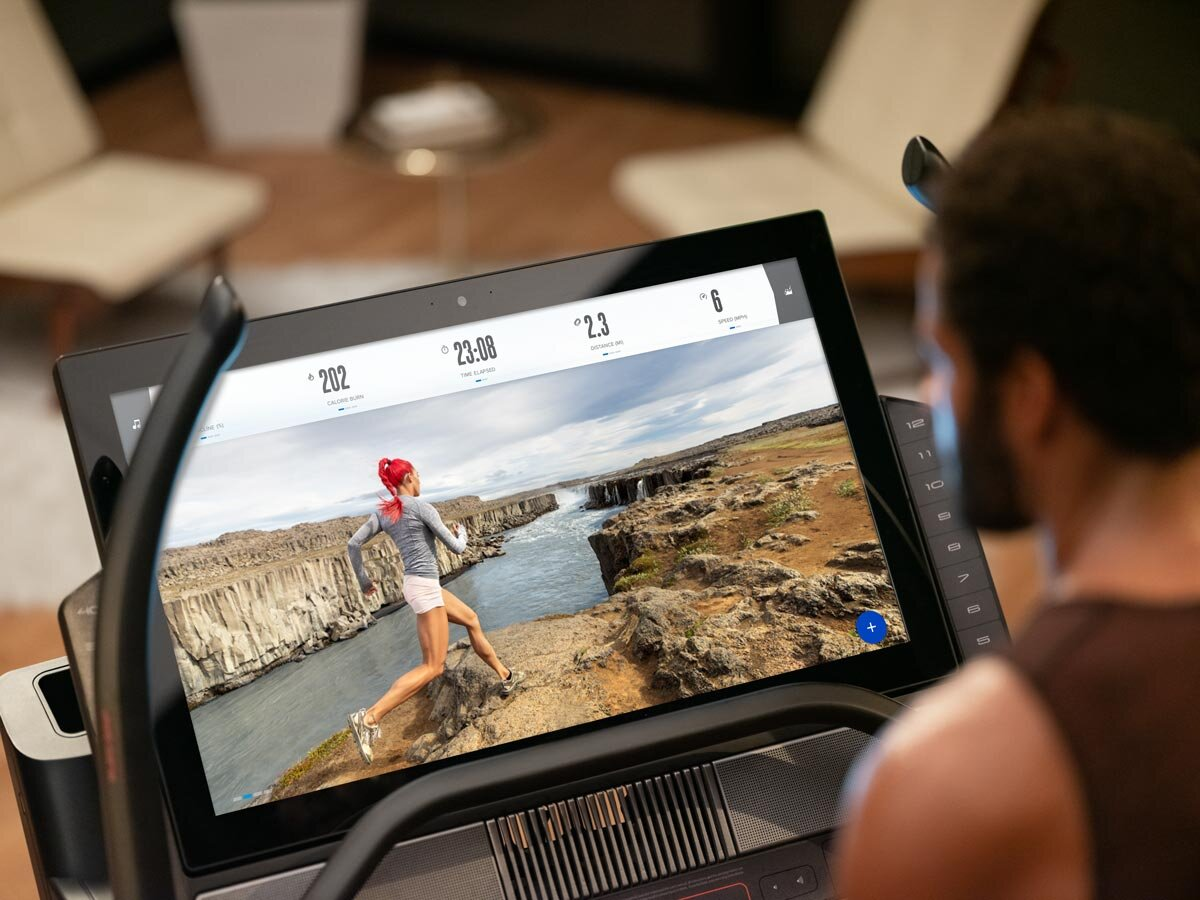 iFit Coach, Hannah Eden, leads you on Ring Road segments in Iceland on this  X32i Incline Trainer