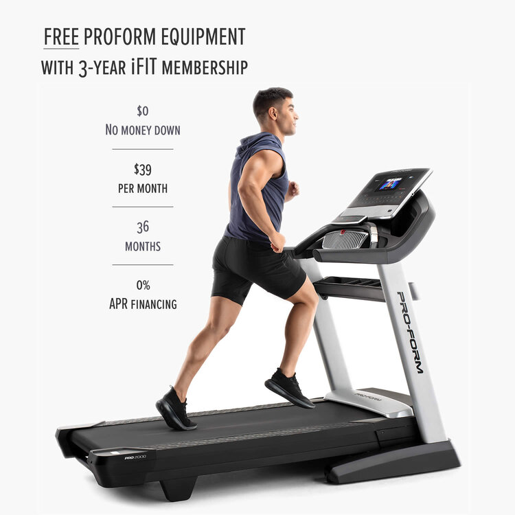 Proform Smart 2000 Pro Treadmill  with iFit. Best Treadmill Deal for a Home Gym