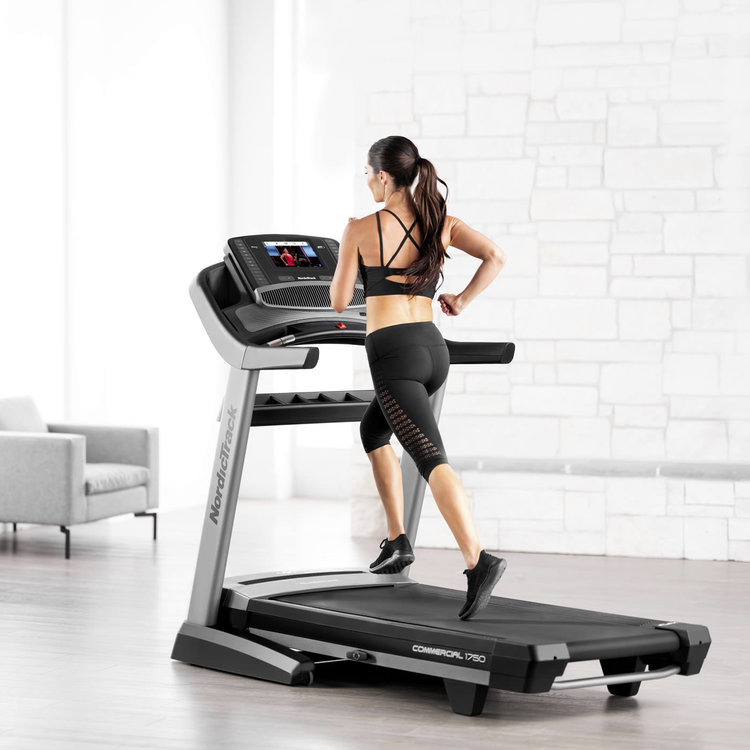 NordicTrack Commercial 1750 Treadmil l is one of the leading home gym foldable treadmills available with incline and decline features and a spacious running deck makes this treadmill a great option
