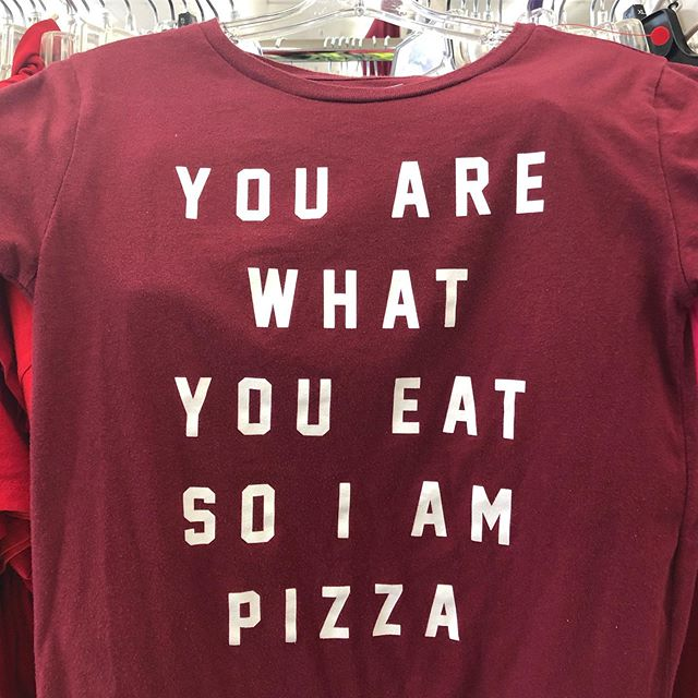 Truth. #💯 #pizzalover #pizza #pizzaswag #pizzaforever #pizzaoftheday #pizzatime #pizzagram #instapizza #instatee #thrifting #reseller #poshmark #poshbabe #poshposs #truth #youarewhatyoueat #stlblogger #instablogger #bloggergram #instafamous #stlouispizzaquest #stlpizzaquest #danette #danettescloset @danettescloset @danetteadamo #🍕