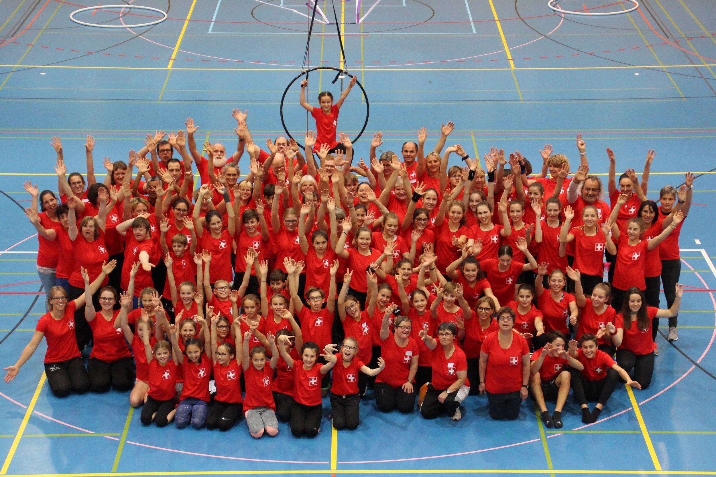 Die Gruppe Säntis Gym PLUS ist bereit für die Gymnaestrada 2019