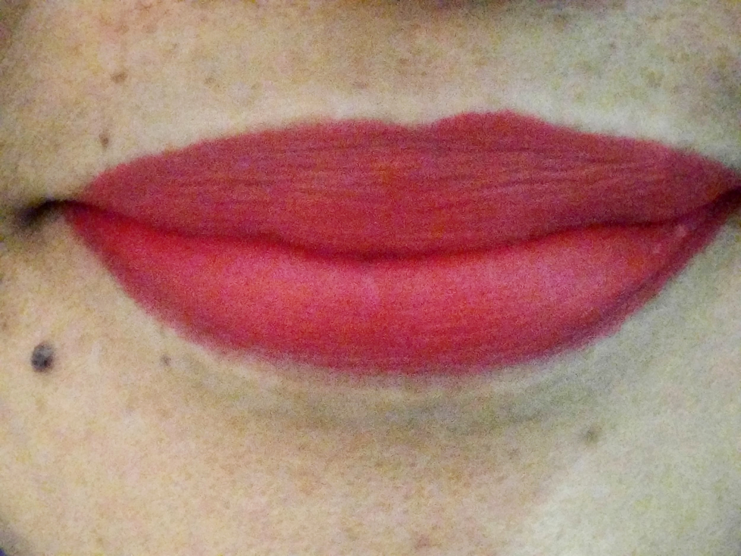The Happy Skin x Disney Princesses Moisturizing Matte Lippie in Snow White on my lips!