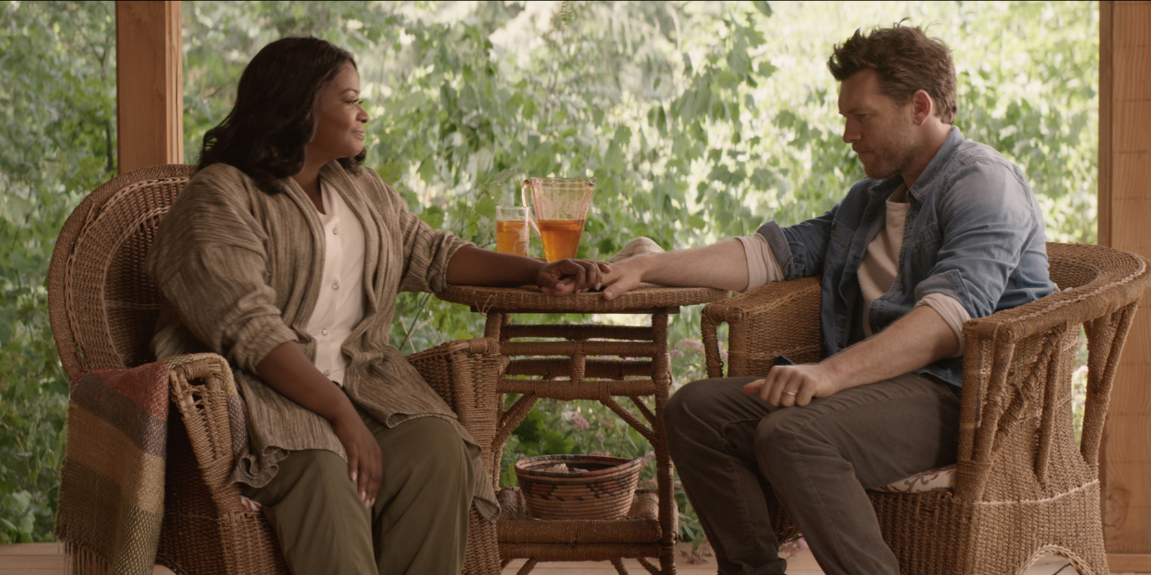 Octavia Spencer and Sam Worthington in The Shack / Pioneer Films