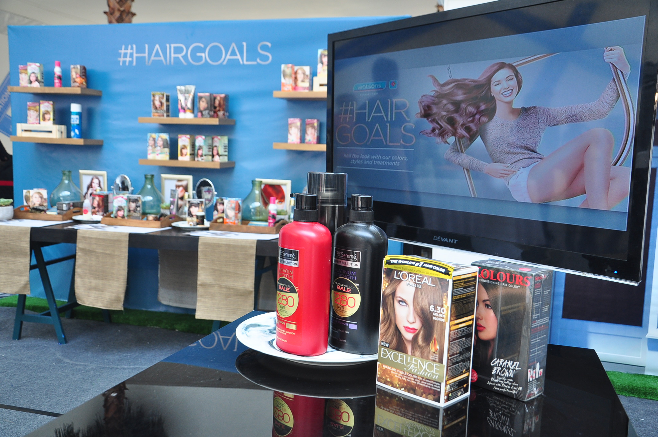 #WatsonsHairGoals event at the SM Mall of Asia last 19 May.