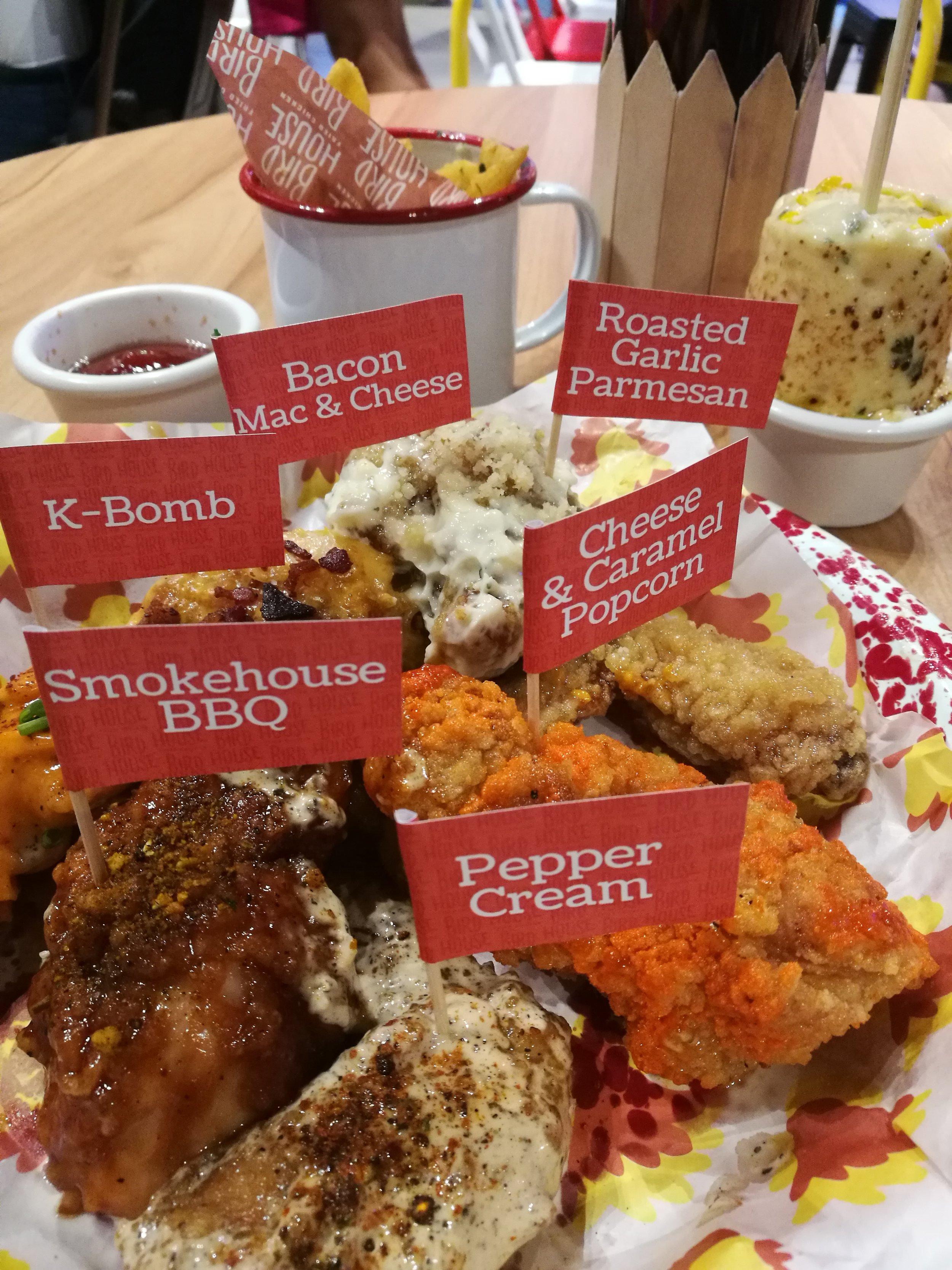 Wing platter at the Birdhouse food sampling