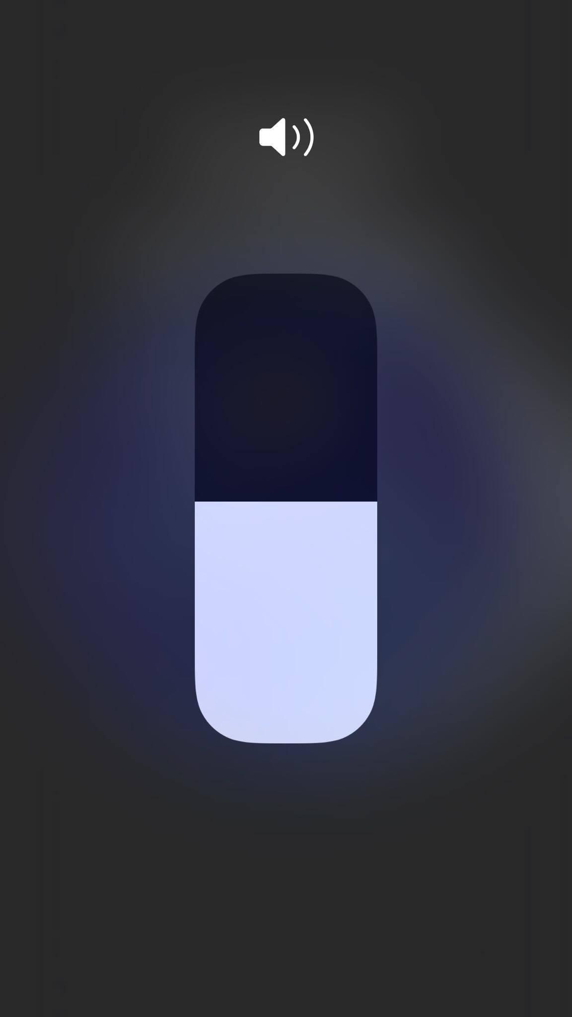 Sound control of iOS 11