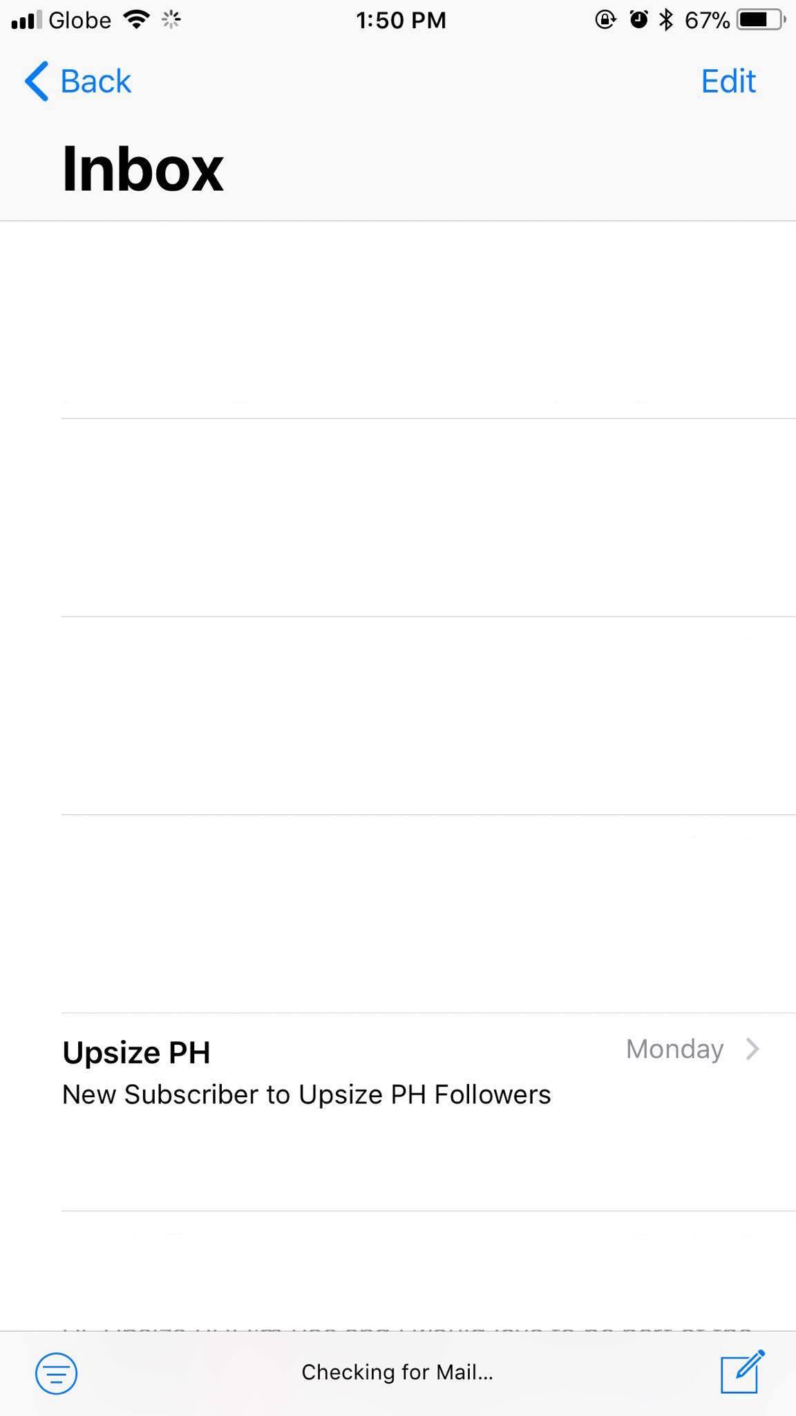 Inbox on iOS 11