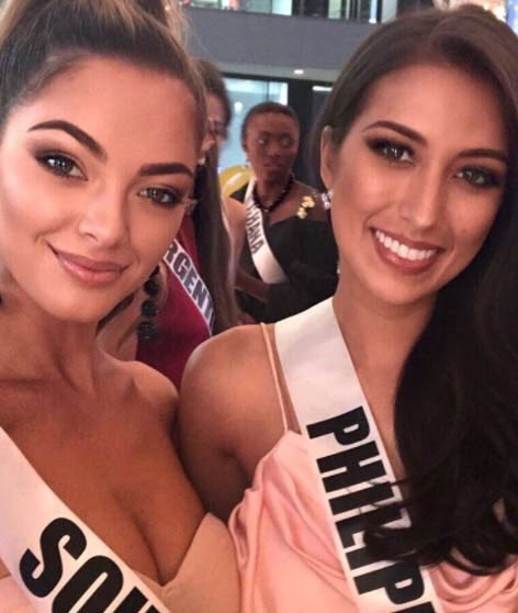 Miss Universe 2017 Demi-Leigh Nel Peters with our very own Miss Universe Philippines 2017 Rachel Peters