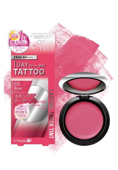 K-Palette 1 Day Tattoo Lasting Cheek Tint in Rose