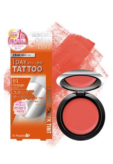 K-Palette 1 Day Tattoo Lasting Cheek Tint in Orange