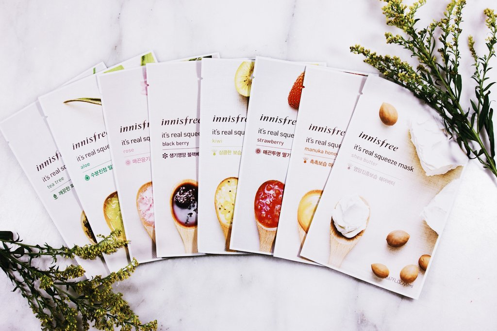 (Innisfree, My Real Squeeze Masks, P 75.13 each)