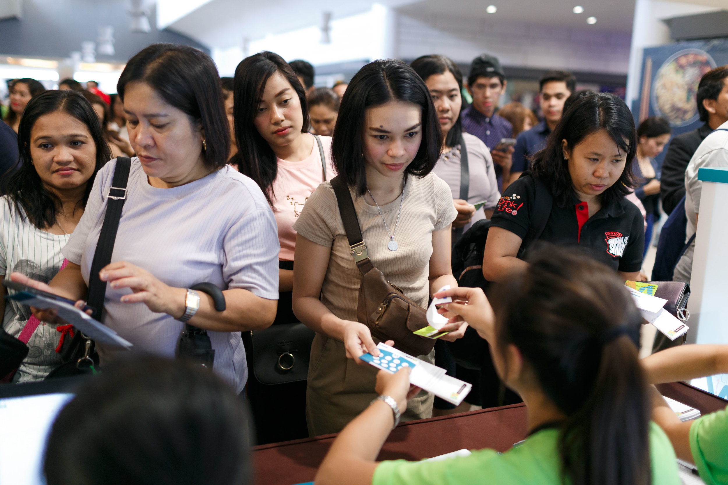 Watsons Card members line up for World of Wellness 2019.jpg