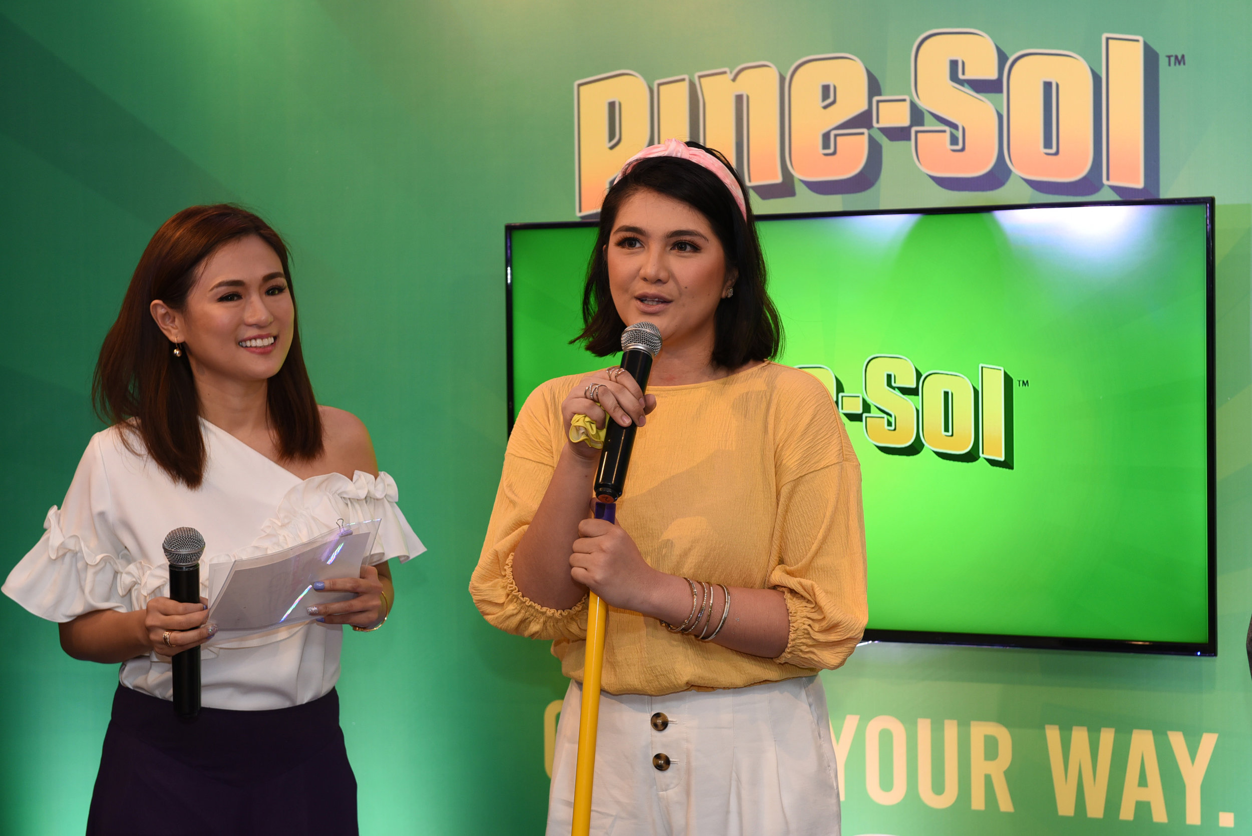 Host Valerie Tan with Pine-Sol Brand Ambassador Dimples Romana.jpg