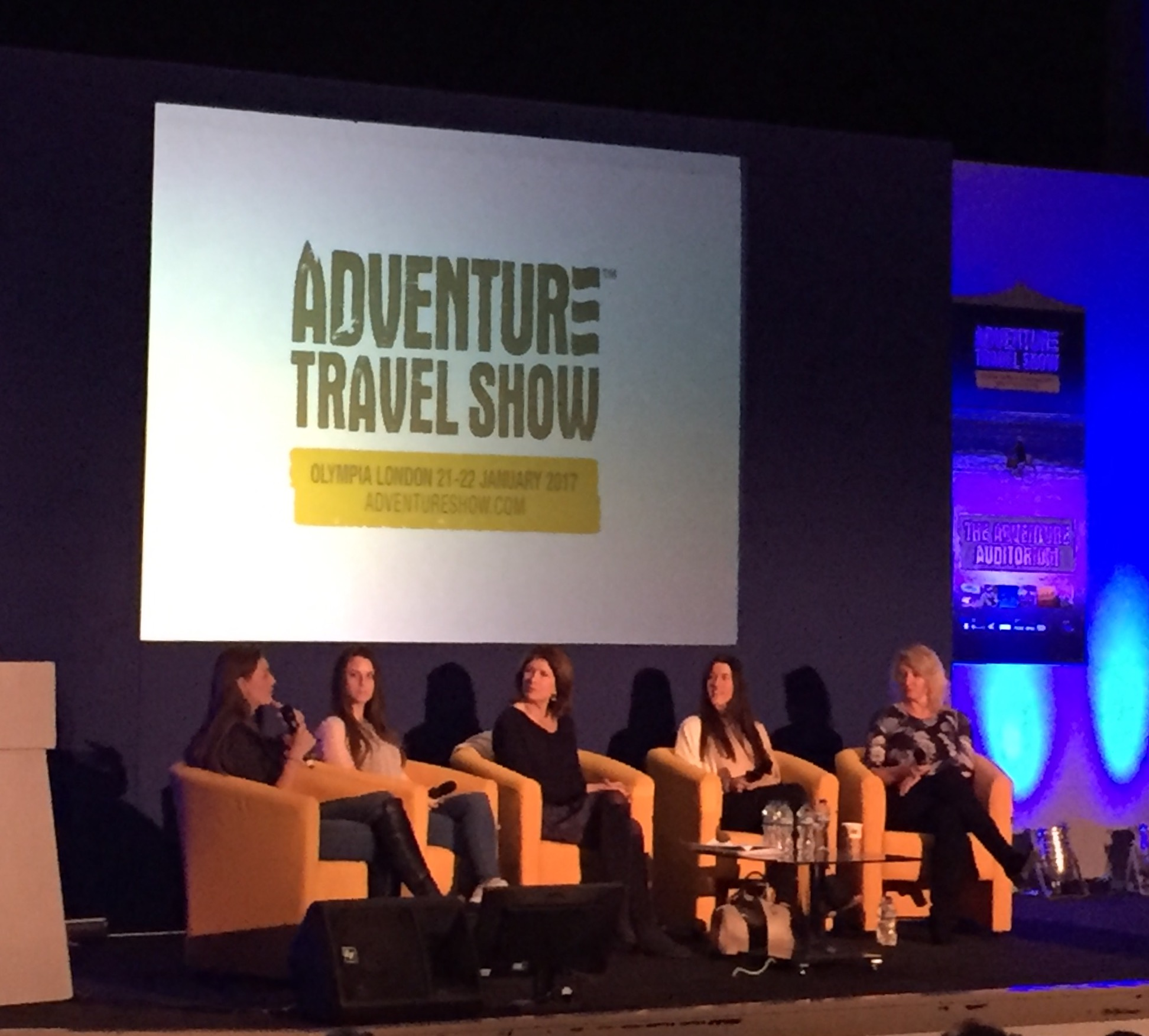 Women on the Edge: Laura Bingham, Justine Gosling, Rebecca Stephens, Natalia Cohen, and Paula Reid (left to right)