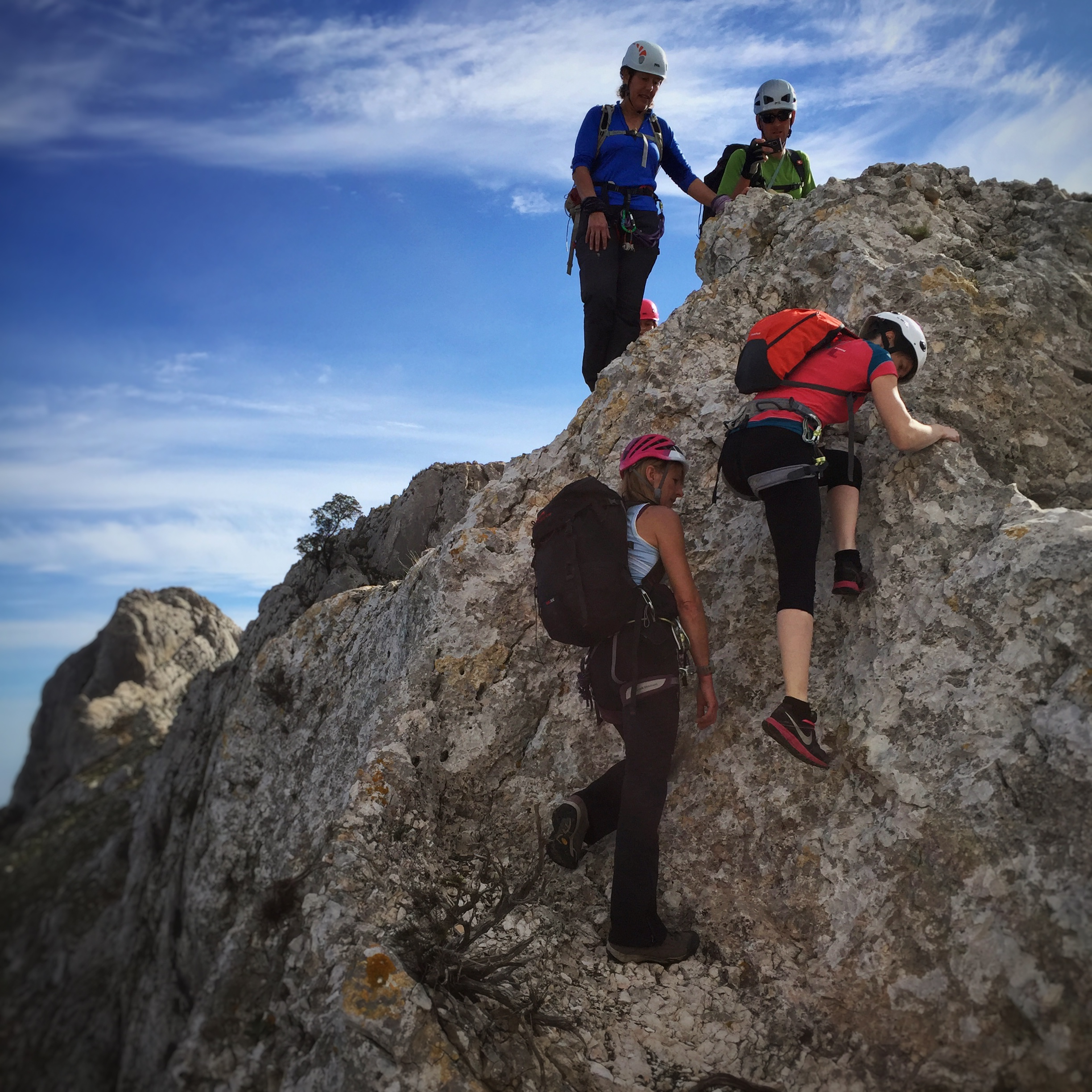 Out in the mountains on the Bernia Ridge traverse