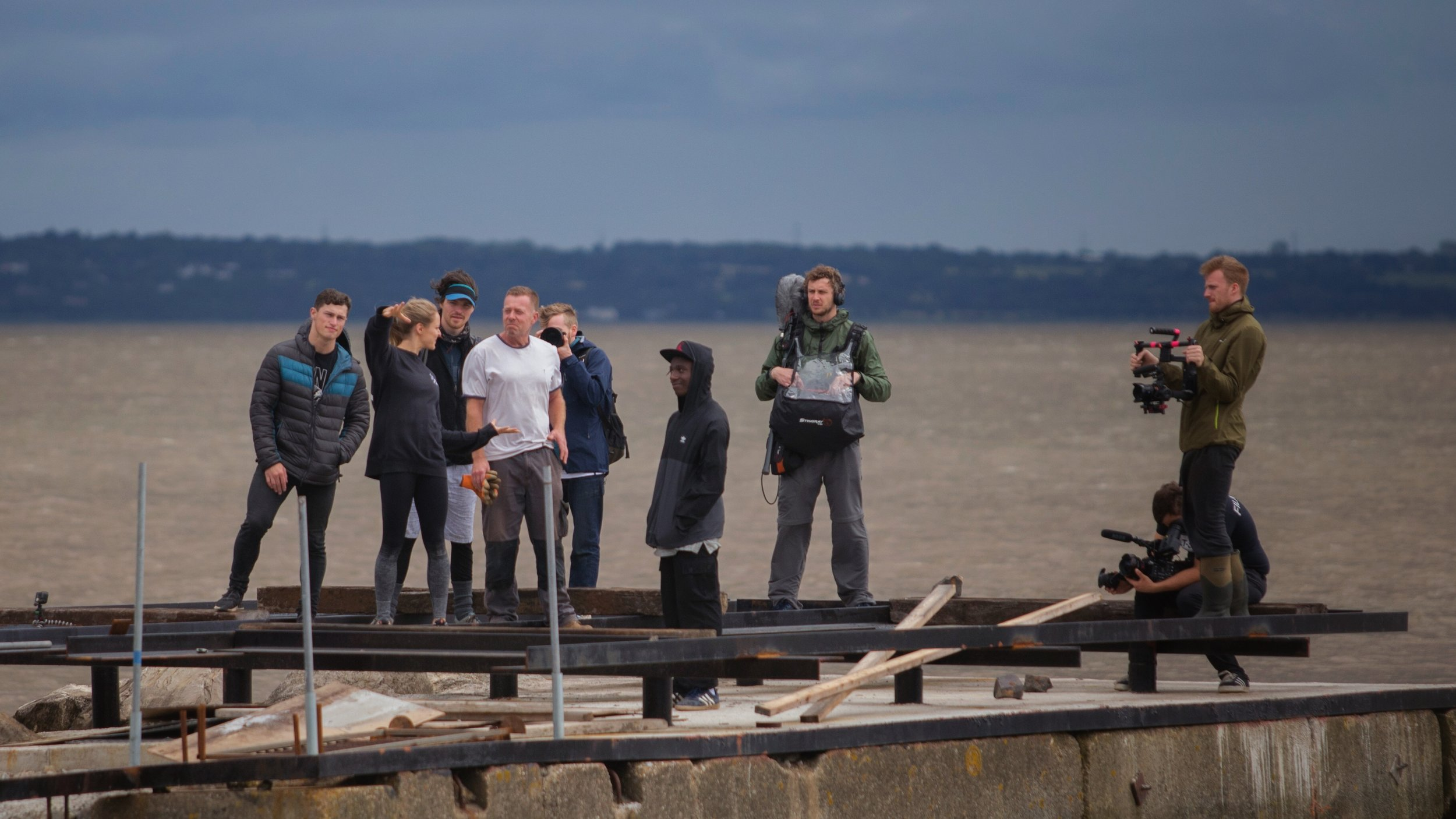 Life on the road - The crew on location during the 18 day road trip which shot at at six locations around the UK