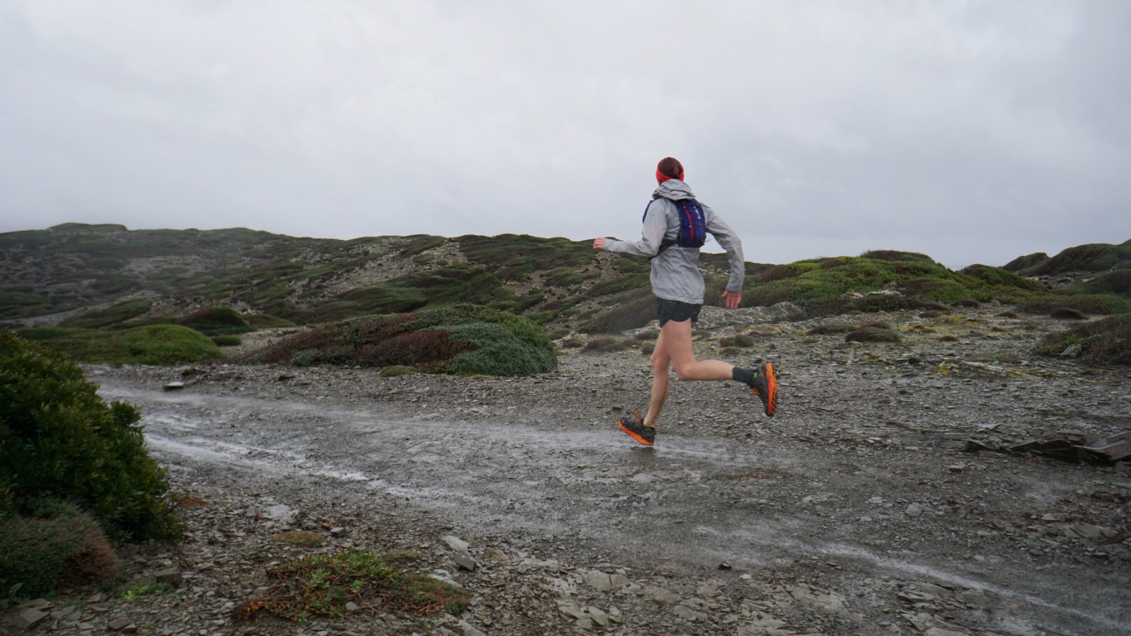 Adjustable hood and velcro cuffs keep the worst of the weather out during the Cami de Cavalls three day trail race