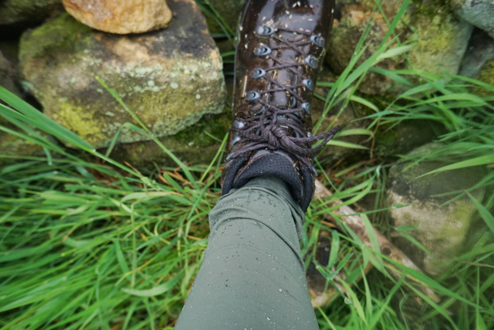 The Skinny Outdoor Trousers are water resistant and quick drying